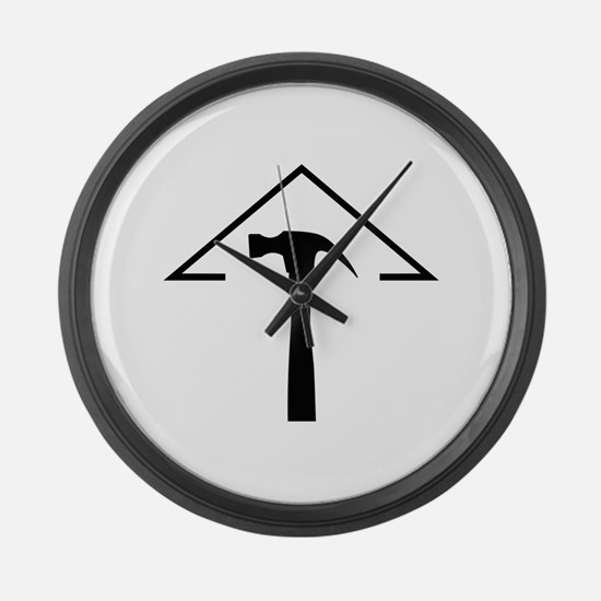 ROOF AND HAMMER Large Wall Clock
