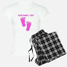Custom Pink Baby Feet Pajamas