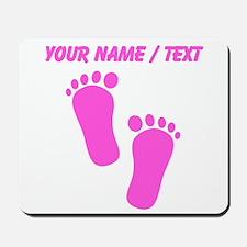 Custom Pink Baby Feet Mousepad