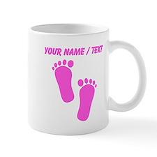 Custom Pink Baby Feet Mugs