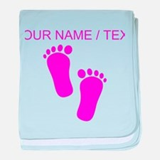 Custom Pink Baby Feet baby blanket