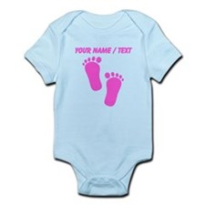 Custom Pink Baby Feet Body Suit