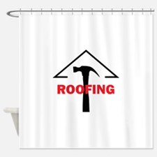 ROOFING Shower Curtain