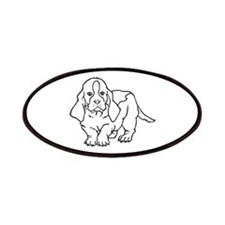 BASSET HOUND OUTLINE Patches
