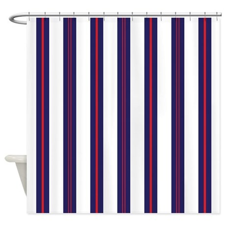 patriotic pinstripes pattern shower curtain by