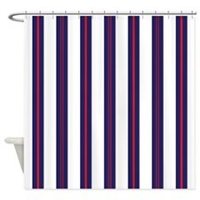 Patriotic Pinstripes Pattern Shower Curtain