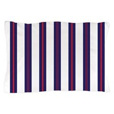 Patriotic Pinstripes Pattern Pillow Case