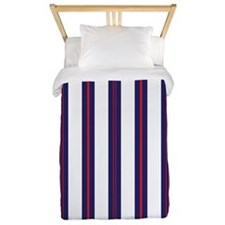 Patriotic Pinstripes Pattern Twin Duvet