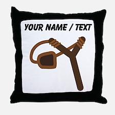 Custom Empty Slingshot Throw Pillow