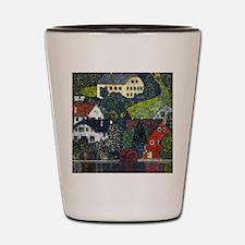 Klimt Houses at Underach Shot Glass