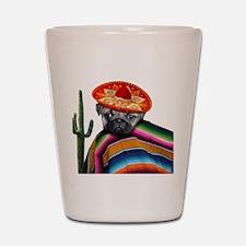 Mexican pug dog Shot Glass