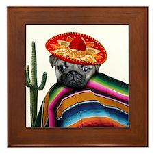 Mexican pug dog Framed Tile