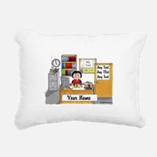 Office, Female Rectangular Canvas Pillow