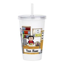 Office, Female Acrylic Double-wall Tumbler