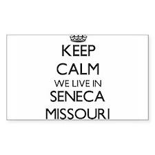 Keep calm we live in Seneca Missouri Decal