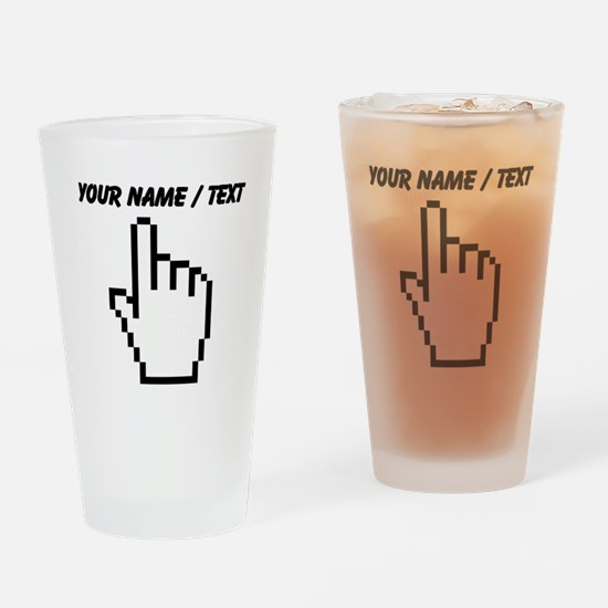 Custom Mouse Pointer Drinking Glass