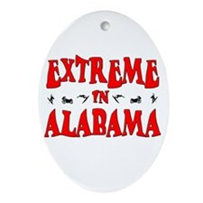 Extreme Alabama Oval Ornament