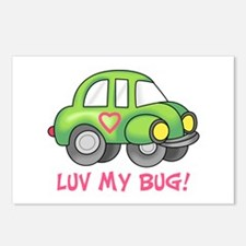 LUV MY BUG Postcards (Package of 8)