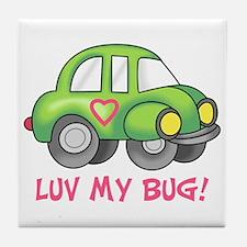 LUV MY BUG Tile Coaster