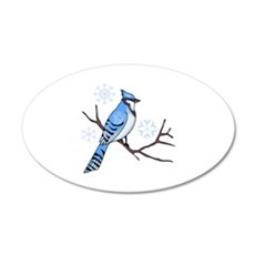 WINTER BLUE JAY Wall Decal