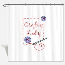 Crafty Lady Shower Curtain