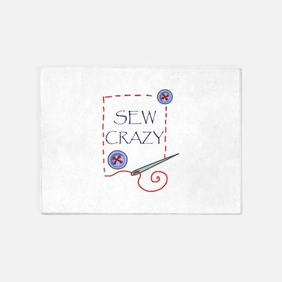 Sew Crazy 5'x7'Area Rug