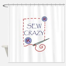 Sew Crazy Shower Curtain