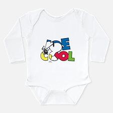 Snoopy Joe Cool Long Sleeve Infant Bodysuit