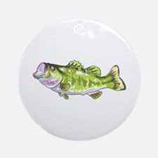 BASS FISH Ornament (Round)
