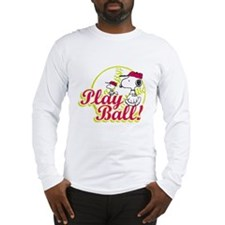 Play Ball Snoopy Long Sleeve T-Shirt