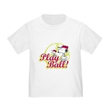 Play Ball Snoopy T