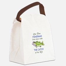 ONE FINE FISHERMAN Canvas Lunch Bag