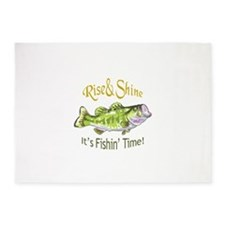 RISE AND SHINE FISHING TIME 5'x7'Area Rug