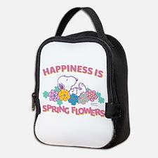 Snoopy Flowers Neoprene Lunch Bag