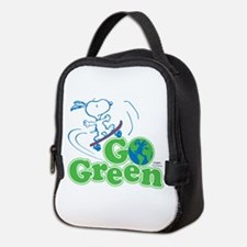 Snoopy Go Green Neoprene Lunch Bag