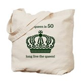 50th birthday queen Canvas Totes