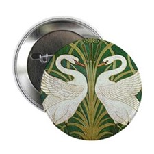 SWANS GREEN Button