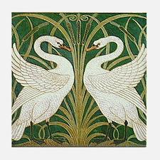 SWANS GREEN Tile Coaster