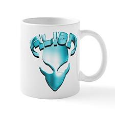Alien with Logo Aqua Mug