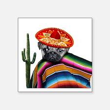 Mexican pug dog Sticker