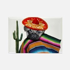 Mexican pug dog Magnets