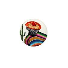Mexican pug dog Mini Button (10 pack)