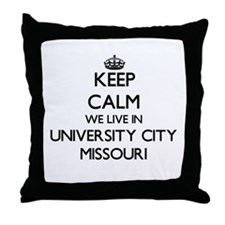 Keep calm we live in University City Throw Pillow