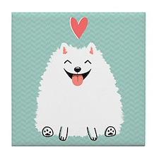 Pomeranian Love Tile Coaster