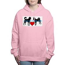 I love My Korean Jindo Women's Hooded Sweatshirt
