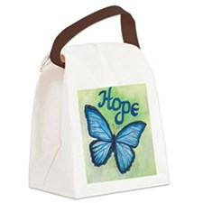 Cute Butterfly Canvas Lunch Bag