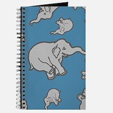 Cute Elephant Pattern Journal