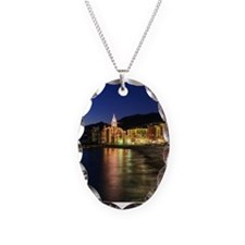 Camogli at evening Necklace Oval Charm