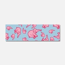 Pink Elephant Pattern Car Magnet 10 x 3
