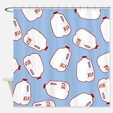Milk Jugs Pattern Shower Curtain